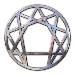 enneagram 3d in chromed metal