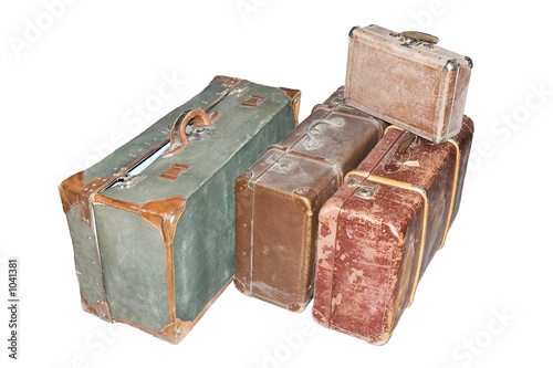 very old suitcases