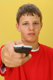 teen boy with remote poster
