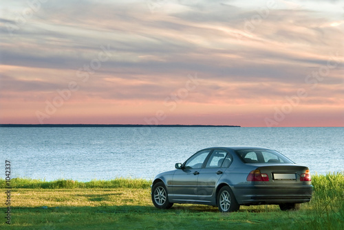 car and sea landscape - 1042337