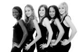 monochrome girls poster