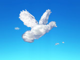 cloud symbols - dove poster