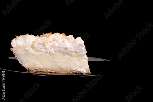 pineapple coconut cream pie with toasted coconut