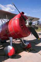 war biplane