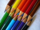tips of colored pencils poster