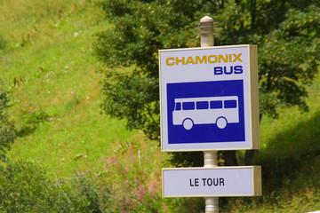 bushaltestelle nach chamonix