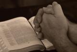 prayer hands - mains de prière poster