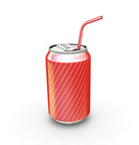 soda drink with straw poster