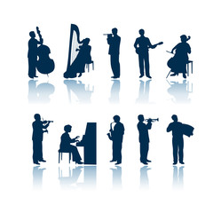 musician silhouettes