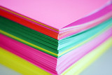 colorful paper folder poster