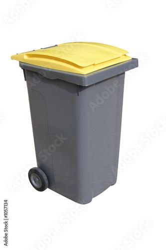poubelle jaune - 1057134