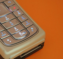 closeup, of, cellular, phone, keypad