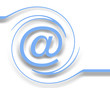 e-mail on white