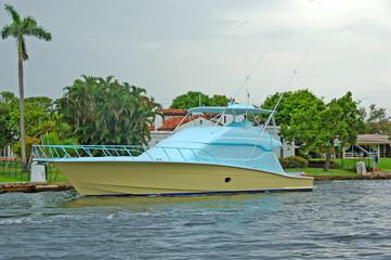 boat undergoing paint job