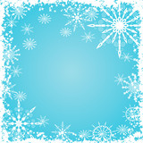 grunge snowflakes background poster
