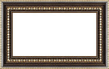 antique wooden picture frame poster