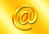 golden email symbol poster