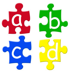 abcd puzzle pieces