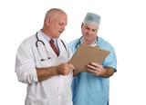 doctors confer together poster