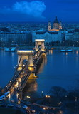 budapest - the old chain bridge poster