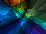 multicolor light abstract poster