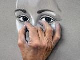 Fototapete Malerei - Portrait - Teil des Gesichts