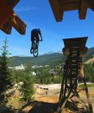 mountain bike drop stunt poster