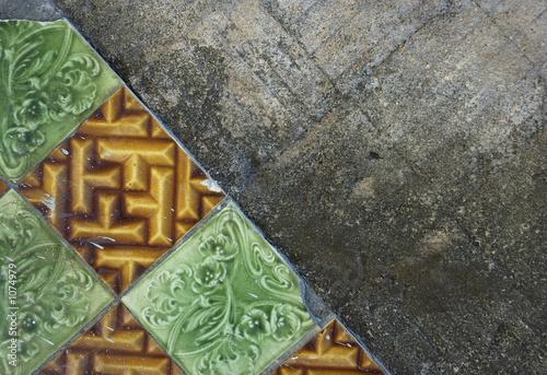 poster of grunge tile background