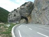 la roche percée sur la route poster
