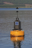 buoy with sun panel. poster