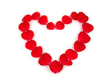 petals heart poster