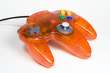 orange video game controller