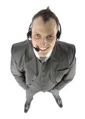 businessman with headphones