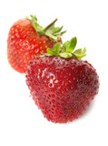 fresh ripe strawberries, isolated