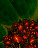 christmas lights - fractal image poster