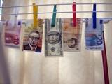 money laundering. crime. money concept poster