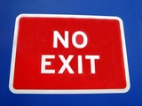 no exit sign. no entry. no access. sign poster