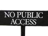 abstract,sign/symbol for no public access.private poster