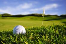 "Постер, картина, фотообои ""golfball on course"""