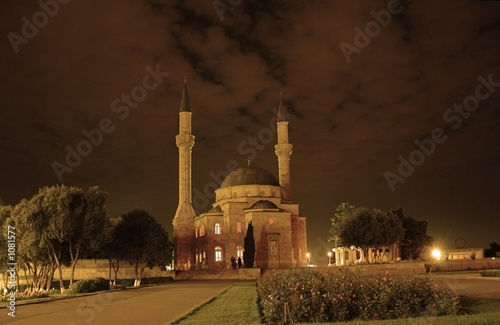 mosque with two minarets