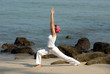 hatha yoga by the beach
