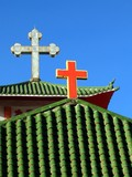 catholic church roof poster