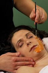 spa salon organic carrot and pumpkin facial masque