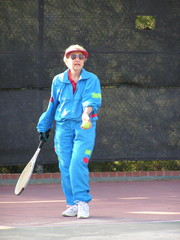 senior female tennis