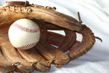 baseball in a glove poster