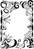 swirls and scrolls border poster