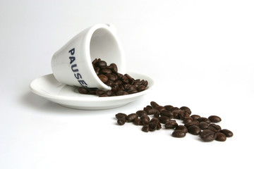 spill of coffee beans