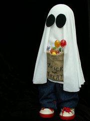 ghost trick-or-treater