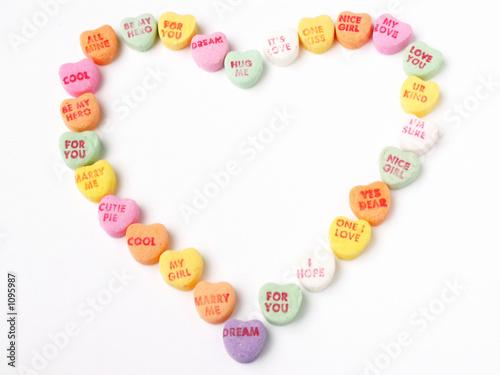 Aluminium Snoepjes candy heart