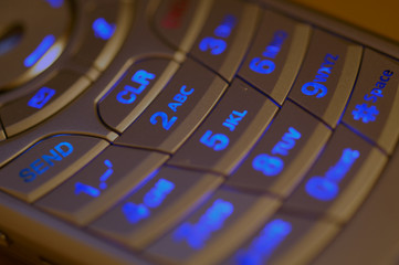 illuminated cell phone keypad